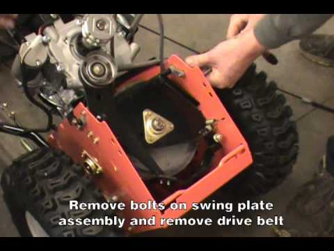 Replacing the Traction Drive Belt - Ariens Two-Stage Snow Blower