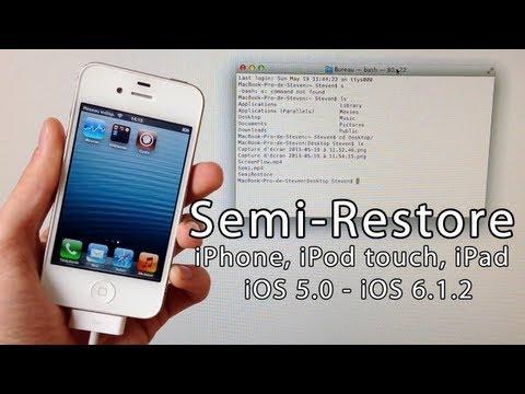 Semi-Restore iOS 6.1.2. 6.1.1. 6.1. 6.0.1. 6.0 iPhone 5. 4S. 4. 3GS. iPad Mini. iPod touch 4/5