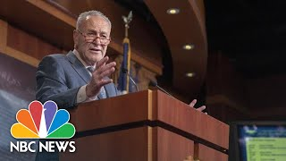 Senator Chuck Schumer Goes After McConnell For Inaction On Election Security Bill   NBC News
