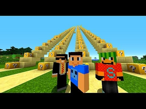Minecraft LUCKY BLOCK STAIRCASE #1 with Vikkstar, Bodil, Double & Simon (Minecraft Lucky Block Mod)
