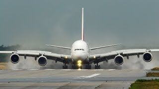 24 BIG PLANE LANDINGS and DEPARTURES - AIRBUS A380, BOEING 747, B787 ... (4K)