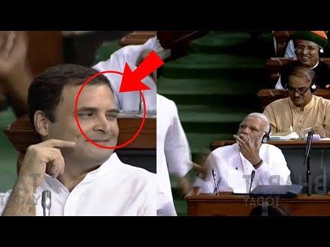 Rahul Gandhi Eye Wink To Modi | Modi Rejects Rahul Eye Wink..? Bharat Today