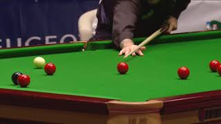 Mark Williams highest break of 133 vs Steve Davis - Budapest exhibition
