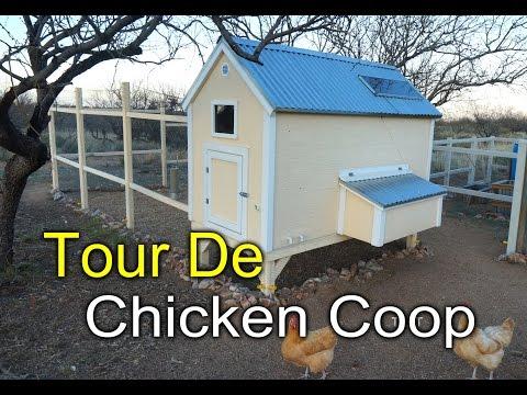 Chicken Coop Tour - Solar, Food, Water, Security