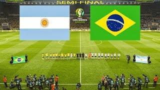 BRAZIL vs ARGENTINA | Semi Final Copa America | PES 2019