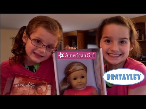 American Girl Doll of the Year 2014   Unboxing Isabelle   Bratayley