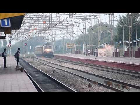 Madly Honking Amul Wap-5 Bandra Nizamuddin Yuva Express Destroys Shri Mahabirji At 130kmph! video