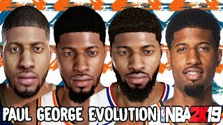 Paul George Ratings and Face Evolution (NBA 2K11 - NBA 2K19)