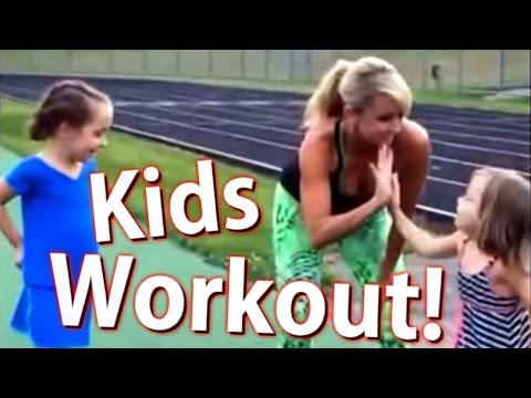 Chalene Johnson Outdoor Fit Kids Workout video