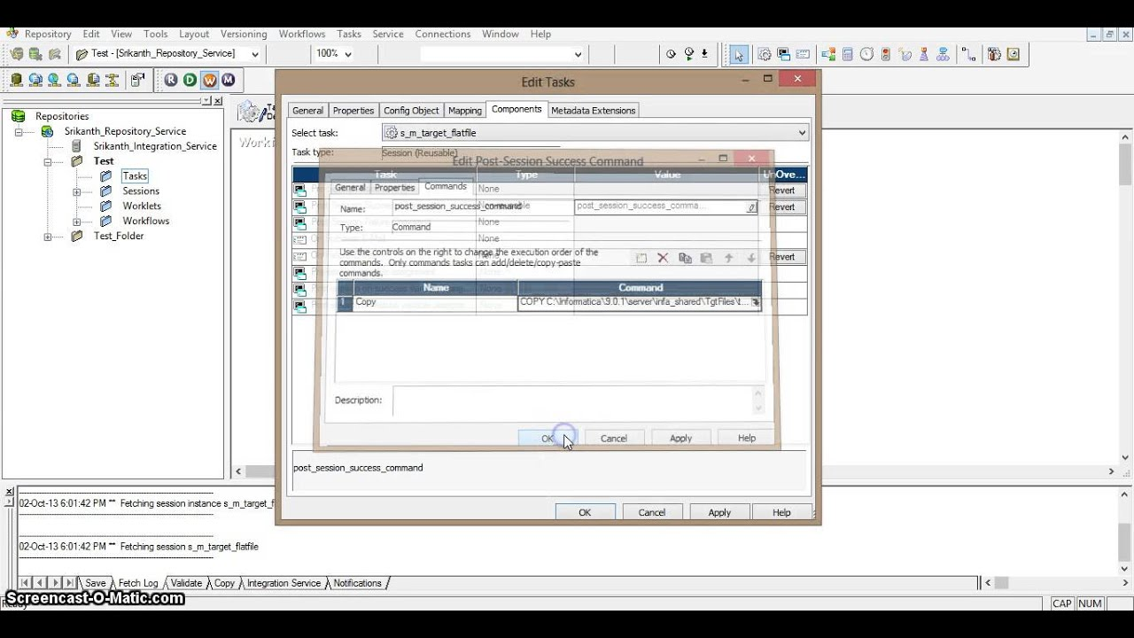 Complete reference to Informatica: WORKING WITH TASKS