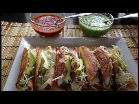 Tacos dorados (flautas)deliciosa receta