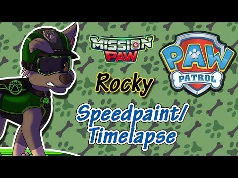 Paw Patrol Mission Paw Rocky - Speedpaint/ Timelapse