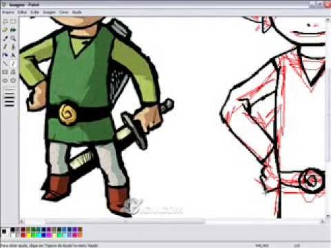 Desenhando Toon Link No Ms Paint! ( Drawing Toon Link In Paint! ) video