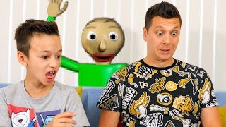 ПАПА играет в BALDI в Реальной Жизни   BALDI'S BASICS in Education And Learning