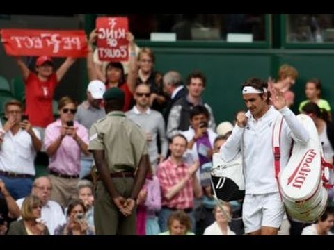 Roger Federer Wimbledon 2014 - Roger Federer vs. Gilles Muller (Match Highlights & Review)