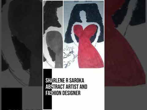 "#ArtWork#. fashion Design abstract art #Sharlene R Saroka"" images edited"