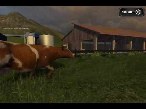 Miking Cows On Farming Simulator 2011