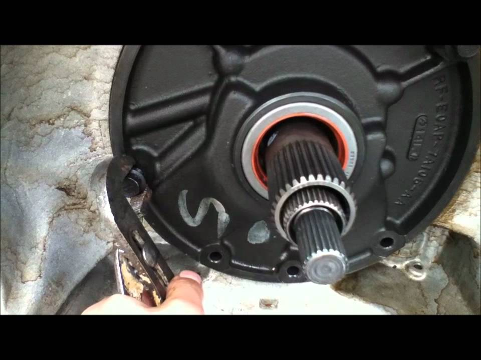 Transmission front pump removal e4od  YouTube