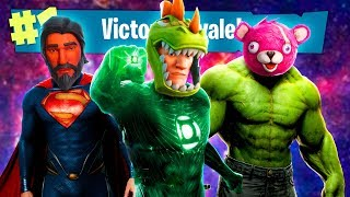SUPERHEROES landing in FORTNITE *SEASON 4* - FORTNITE (Victory Royale)