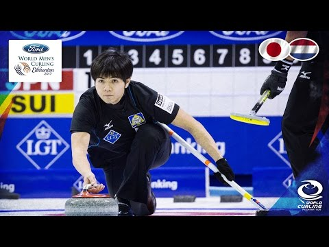 Japan v Netherlands - Round-robin - Ford World Men's Curling Championship 2017