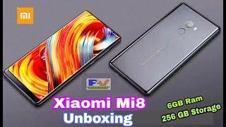 Xiaomi Mi8 Mobile Phone Unboxing - Xiaomi Mi 8 Review & All Future (8GB Ram & 256GB Storage).