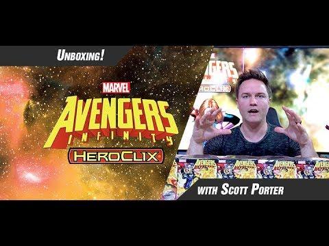 Marvel HeroClix: Avengers Infinity Unboxing Part 1