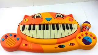 B. Meowsic Kids Keyboard w/Mic Incl. Batt. Orange Cat Piano Children's Music Toy Ebay Showcase