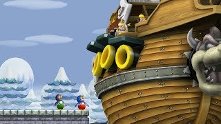 New Super Mario Bros Wii - All Castles (2 Players)