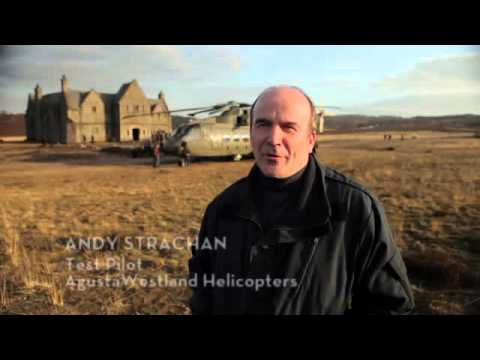 Agustawestland AW101 Helicopter - backstage in 007 Skyfall