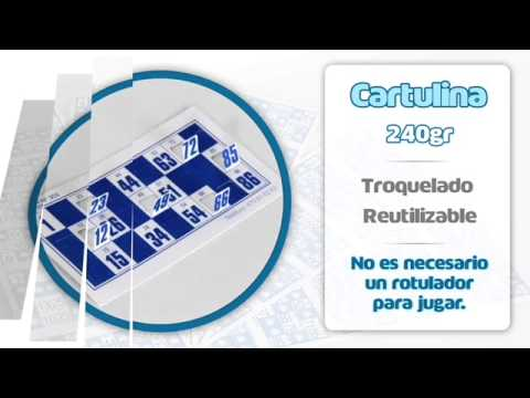 cartones de bingo troquelados formatos