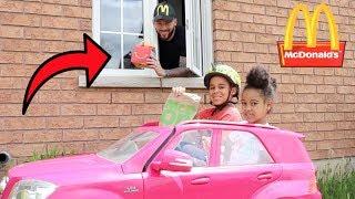 McDonald's Drive Thru Prank! Kids Pretend Play   FamousTubeKIDS