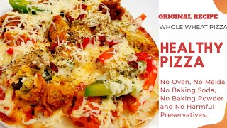 No Yeast Pizza Instant Pizza   Healthy pizza for weight loss  Low calorie Pizza Low fat Pizza Food