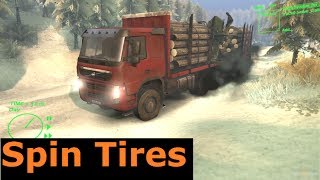 Volvo FM 6x6 Timber Truck - Spin Tires tech dev demo gameplay, commentary, let