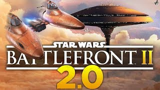 Star Wars Battlefront 2: MEGA Update 2.0   New Map & Customization Gameplay!