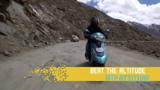 TVS Scooty Zest 110 presents 'Get on the Road' with Motoroids- Anam Hashim- Khardung La Passed (30s)