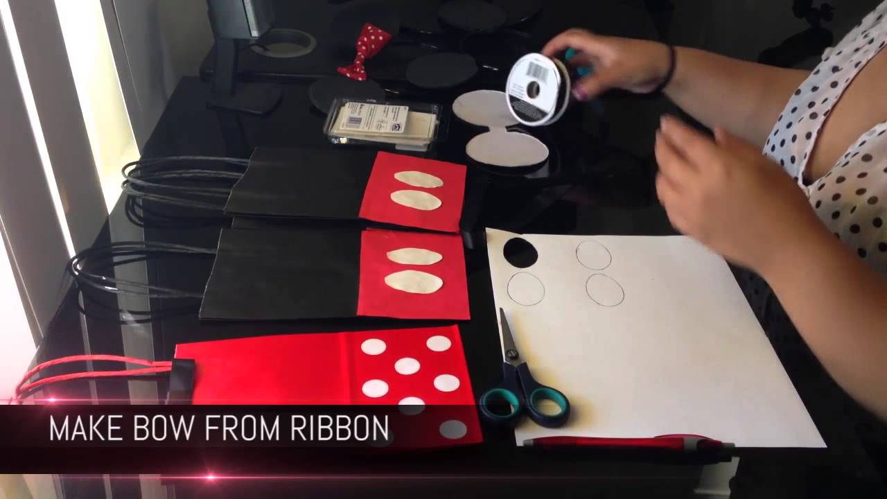 Mickey amp Minnie Mouse Treat Bags DIY YouTube