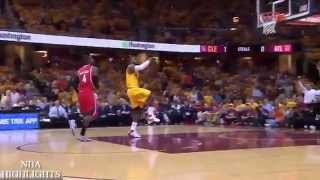 LeBron James Amazing Dunk | Hawks vs Cavaliers | Game 4 | May 26, 2015 | NBA Playoffs