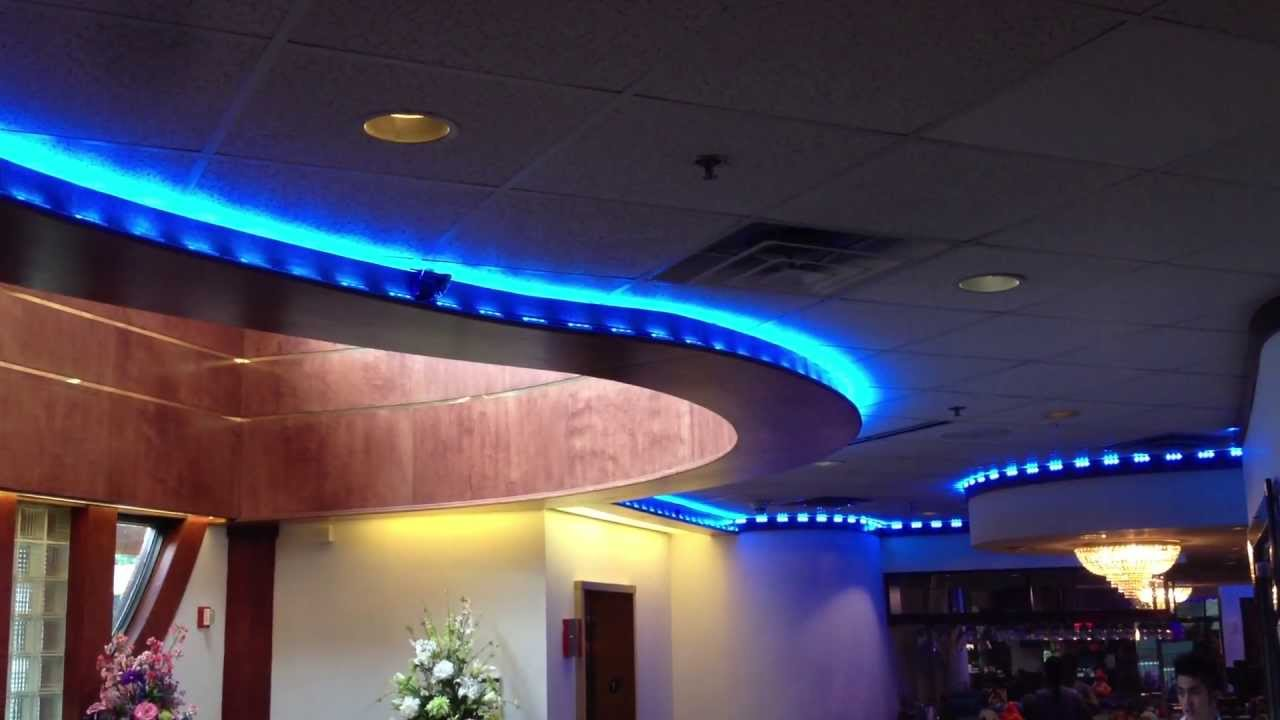 Iluminacion led restaurante bar youtube for Decoracion de iluminacion interior