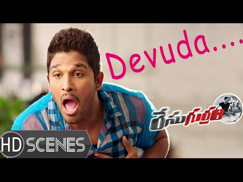 Allu Arjun Shocked At Shruti Hassan Character - Race Gurram Movie Comedy Scenes video