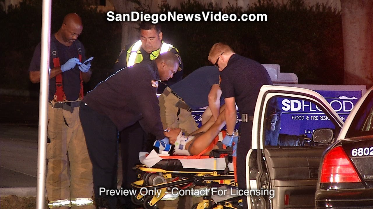 SDPD OFFICER INVOLVED COLLISION SENDS TWO TO HOSPITAL