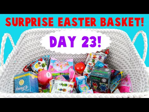 Surprise Easter Basket! Opening Blind Bag Toys! Day 23 - Ariel Finds Minty!