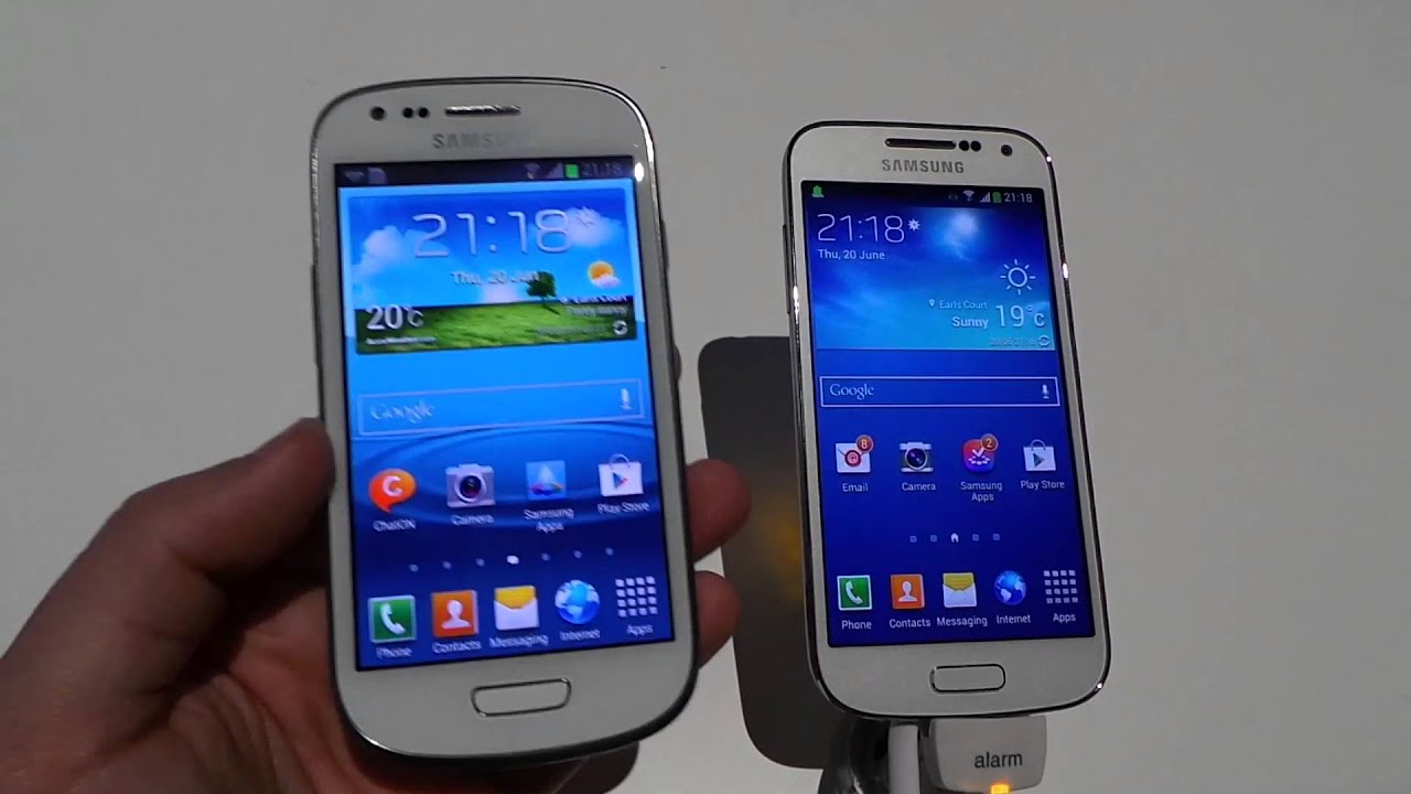 Samsung s4 Mini vs Samsung s3 Samsung Galaxy s3 Mini vs