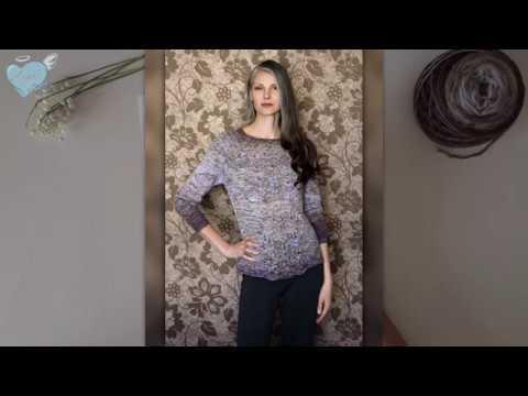 Совместное вязание пуловер Акация. Часть 2