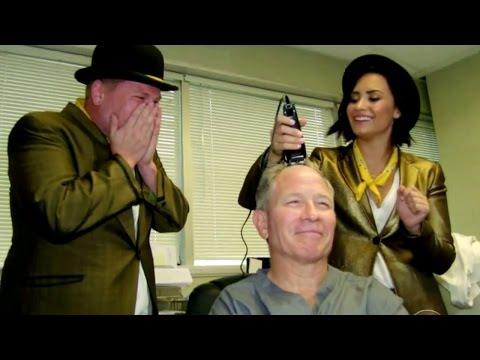 Demi Lovato & James Corden Sing Telegrams & Shave Head - VIDEO