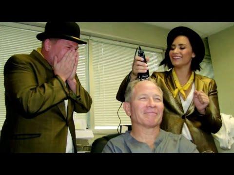 Demi Lovato & James Corden Sing Telegrams & Shave Head - VIDEO