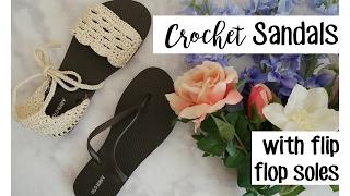 Crochet Sandals using Flip Flop Soles | Sewrella