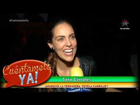 ¡Sara Corrales, la verdadera Estela Carrillo! | Cuéntamelo YA!