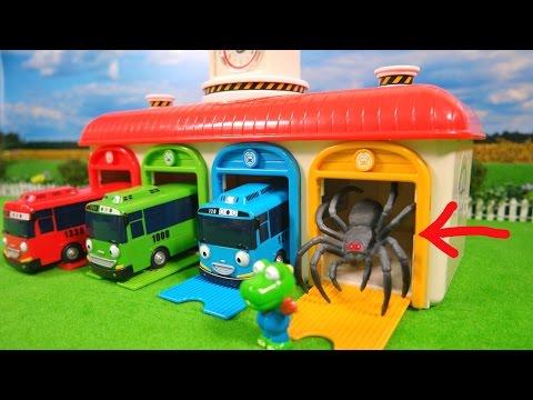Monster Spider in Tayo the Little Bus Garage