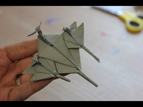 How To Make An Origami Fighter Jet plane video