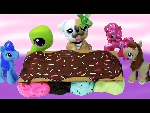 Ice Cream Table Buyer Littlest Pet Shop My Little Pony LPS MLP Webkinz DIY klip izle